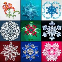 quilling snowflakes and flowers large