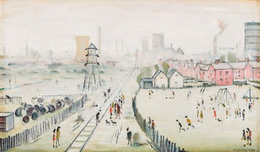A View of York from Tang Hall Bridge, LS Lowry
