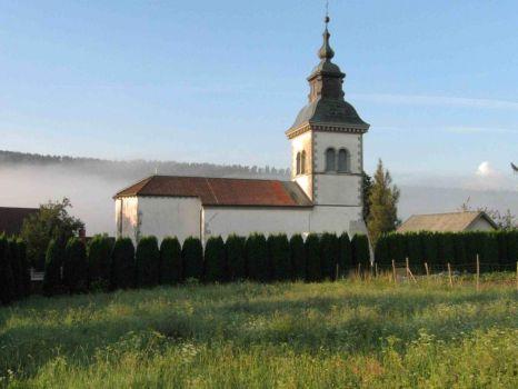 Church in morning light