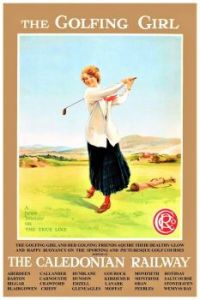 Themes Vintage illustrations/pictures - Golf Courses in Scotland Poster