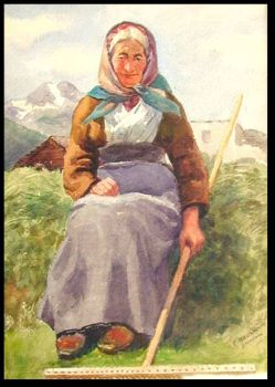 Farmer's Wife from Engadine by Emil Beurmann
