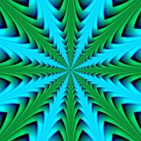 Layered Structure in Blue and Green