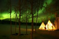 Aurora Over Teepees in Northern Wisconsin