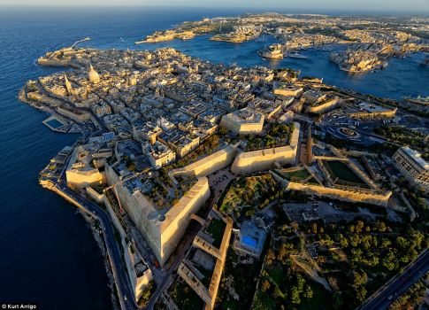 Aerial view of Valletta