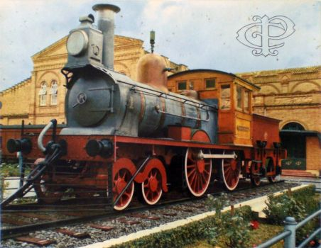 Post Card 1930 - CPTM Steam Train