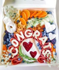 Cheese, Meat and Fruit box for a newly married couple