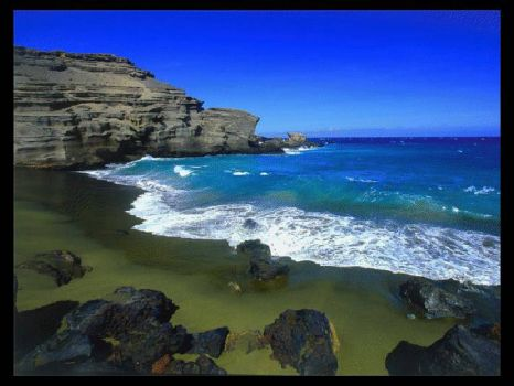Papakolea Beach, Hawaii