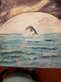 Moon Light Dolphin by TorS Art