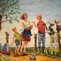 Kim Veilleux Art - On the Farm