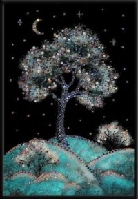 Winter-Cherry-Swarovski-Crystal-Tree-and-Landscape