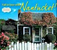 Unusual Building Rose Covered Nantucket Cottage