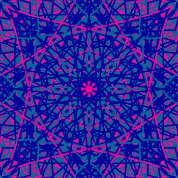 Kaleidoscope Pink and blue