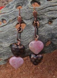 Copper rhodochrosite Earrings