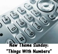 "New Theme Sunday: ""Things With Numbers""  Counting on y'all to have fun with it."