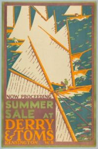 Poster, Summer Sale at Derry and Tom's, London, 1919