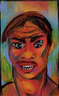 Human emotions #3 -  Anger.  Digital drawing (ArtRage)