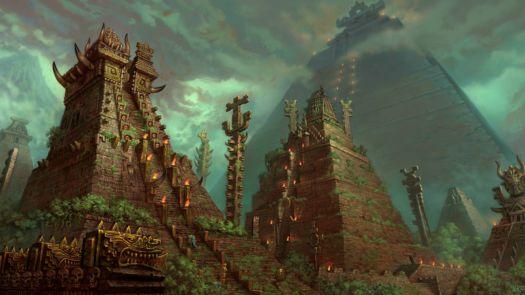 Fantasy Art Aztec Lizard Men