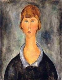 Portrait of a Young Woman - Portrét mladé ženy - 1919