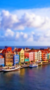 Dutch Architecture Along Willemstad's Harbour --  Curaçao...