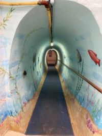 Tunnel to my apartment pool