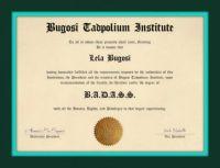 Bugosi Tadpolium Institute.....
