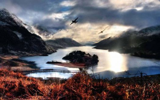 Loch Shien, Scotland, photo by Dietmar Herzog