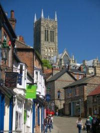 Lincoln Cathedral from Steep Hill.