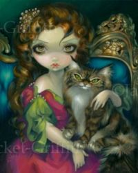 Princess with a Maine Coon Cat - Jasmine Becket-Griffith