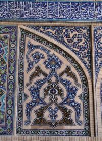 Tiles on mosque in Isfahan
