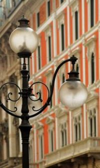Street lamps in Milano, Italy