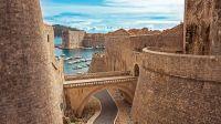 The Ploce Gate - City Walls of Dubrovnik in Croatia