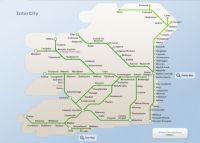Irish rail network map