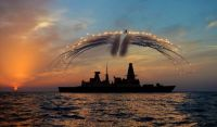 HMS Daring Helicopter Flares