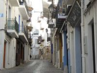 Spain. A street in the old part of Peniscola