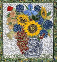 Mosaic Flowers in a Vase