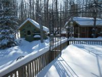 Potting Shed and Garden Shed in an Alberta Winter
