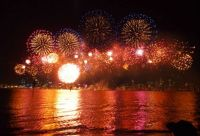Fireworks over Swan River, Perth