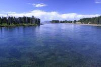 Approaching Yellowstone Lake