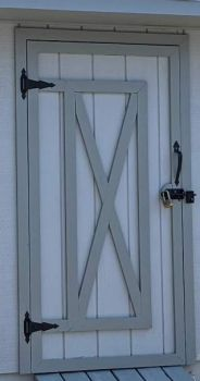New stain on shed door