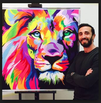 Here's the brilliant artist himself- Wahyu Romdhoni