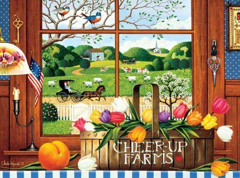 Peach of a Day - Charles Wysocki