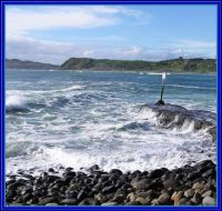 Manu Bay by the Breakwater, Raglan Coast.
