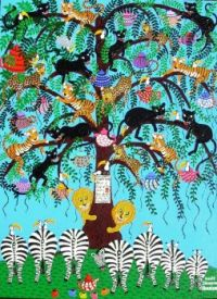 Maud Lewis tree and Zebra