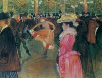 Henri de Toulouse-Lautrec ~ At the Moulin Rouge-The Dance, 1890 [larger]