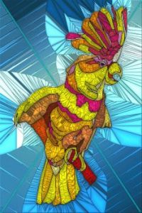 Stained Glass Bird 22