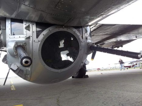 Sperry Ball Turret under a B-17G Flying Fortress