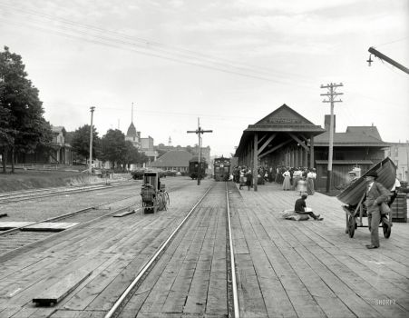 1901 Petoskey, Michigan. Grand Rapids & Indiana R.R. Station