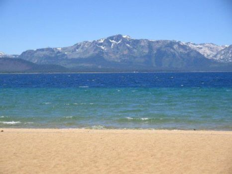 Beach and mountain