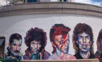"Another ""Legends of Rock"" Mural at The Gateway- Salt Lake City, Utah"