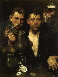 Charles W. Hawthorne (American, 1872–1930), Bums Drinking (1903)